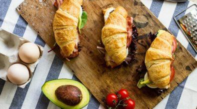 Recept na slaný raňajkový croissant