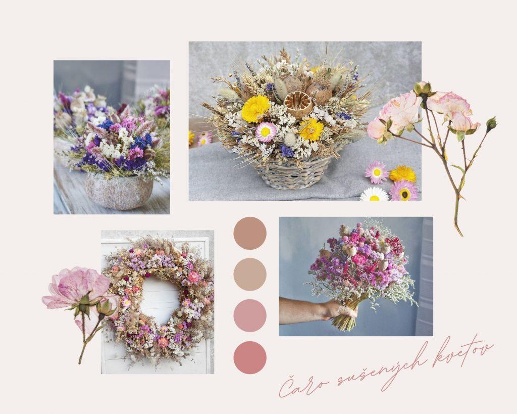 aranžmány zo sušených kvetov