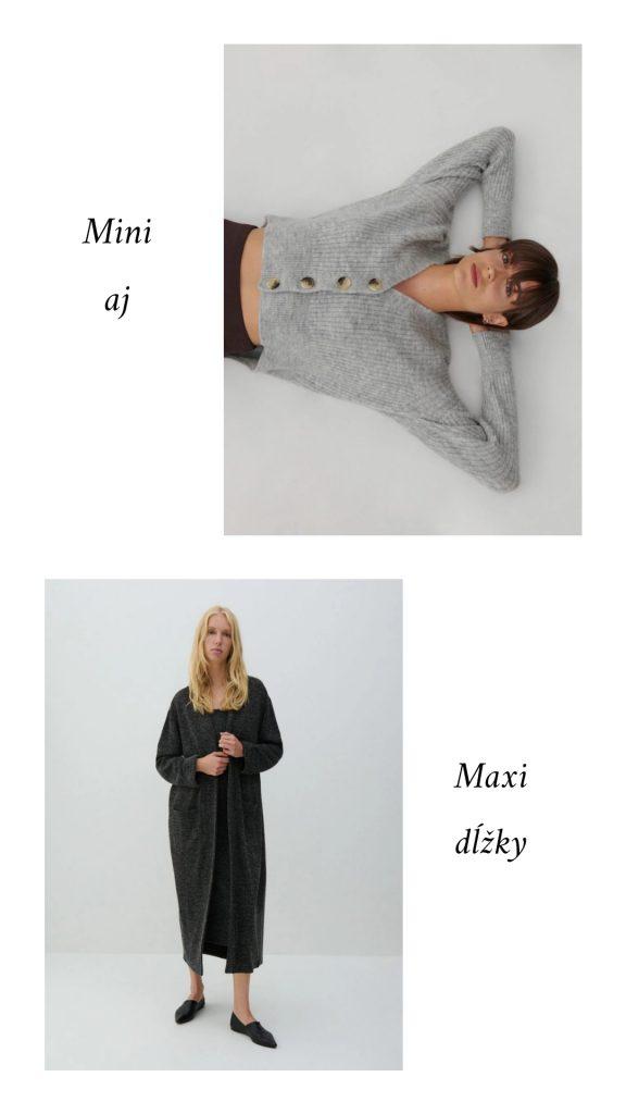 Mini aj maxi Dĺžky svetrov